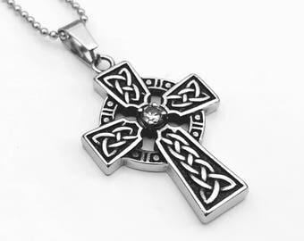 Celtic Cross Necklace, Celtic Endless Knot Necklace, Cross Necklace, Celtic Knot Necklace, Knot Necklace, Celtic Jewelry,