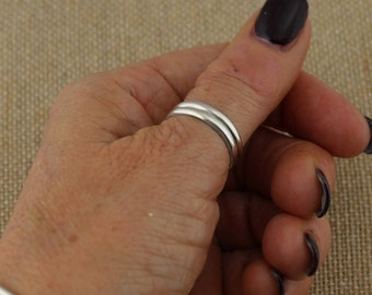 Sterling Silver, Moxie Double Wire, Thumb Ring, Multi-Finger Rings, Moxie Rings, Unisex Rings, Everyday Ring