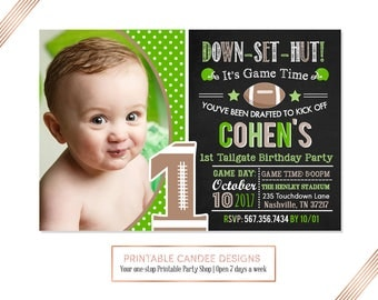 Football Birthday Invitation, Football Party,  Football Birthday,  Any age, Pick Team Colors, All Star Invite, Printable File