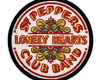 The Beatles SGT Peppers Patch Lonely Heart Licensed Embroidered Iron On Applique