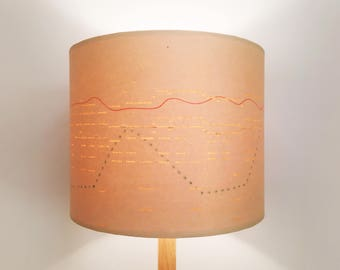 Vintage Pianola Roll lampshades and pendant lighting **By Bespoke Order**