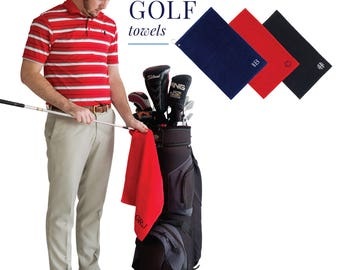 Monogram Golf Towels, Monogrammed Gifts, Groomsmen Gifts, Father's Day Gifts, Monogrammed Gifts for Men, Golf Towels for Her