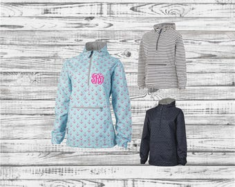 Monogrammed Rain Jacket, Charles River Pullover Rain Jacket, Anorak Rain Jacket, Lined Anorak Rain Jacket