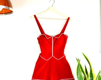 1950s Catalina A California Creator swimsuit // RARE vintage PINUP onepiece bathing suit