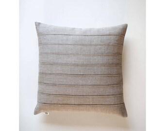 Pillow with lines, linen pillow, decorative pillow, throw pillow, euro sham