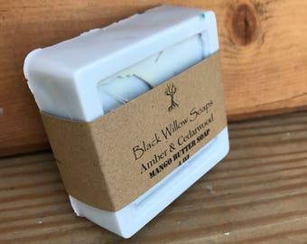 Amber Cedarwood Handcrafted Soap, Handmade Soap, Homemade Soap, Natural Soap, Essential Oil Soap, Soap for Men, Mens Gift, Bar Soap