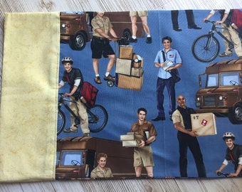 Mailman pillowcase/ postman pillowcase/deliveryman pillow cover