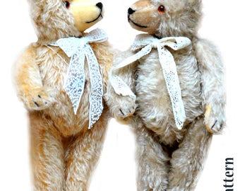 Antique Teddy Bear PDF Sewing E-Pattern 20 inch (50cm) Artist design/ Mohair Bear 1930 years/ traditional German bear/ classic teddy pattern