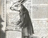Not Exactly the Easter Bunny Rabbit, Political Magazine Illustration from 1878, Instant Digital Download, Printable