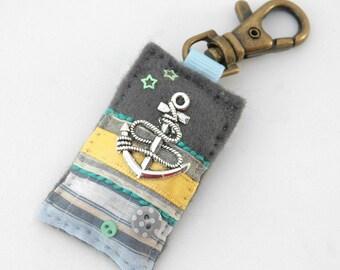anchor bag charm, anchor gifts, handmade bag charm, sailing accessories, nautical purse charm, mariner gift, sea lover, UK gift ideas, boats