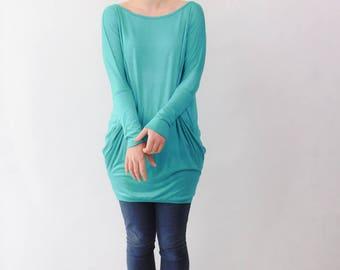 Tunic Dress, Tunic, Tunic Shirt, Mini Dress, Oversized Top, Aqua Tunic Dress, Mint Tunic Dress, Aqua Tunic, Mint Tunic, Mint Dress