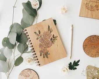 Ranunculus Journal, Wooden Journal