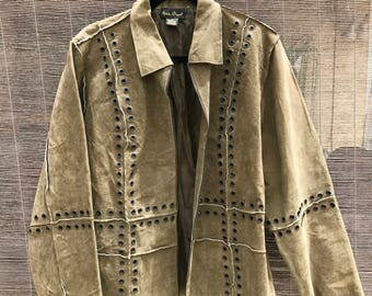 Green Leather Jacket (Large)