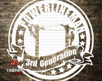 3rd Generation Lineman Linelife Decal Lineman Sticker