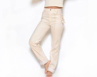 Deadstock 70's LEVIS White Corduroy Pants Sz 29W