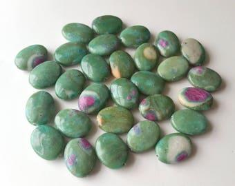 ruby fuchsite beads 29pcs