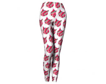 Cat Leggings - FREE SHIPPING to USA because cats cute print leggings spandex yoga workout pants athletic tights womens activewear funky fun