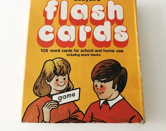 REDUCED Vintage 1970s Ladybird Reading Flash Cards, Set Two