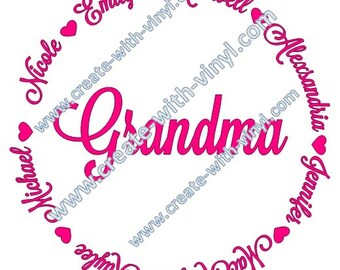 CUSTOM GRANDPARENT - SVG file - Cameo, Cricut, Embroidery svg files, perfect gift for grandparents - birthday - mothers day - fathers day