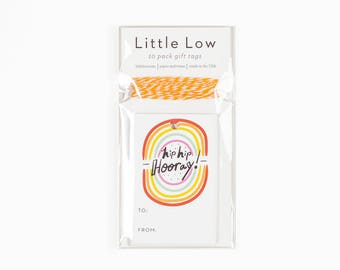 Hip Hip Hooray Gift Tag Pack of 10