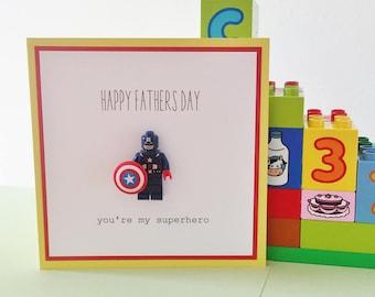Fathers Day Lego Superhero Card