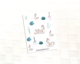 Swan's Dream Deco Stickers