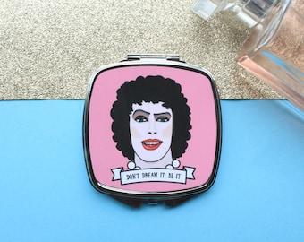 Rocky Horror Musical Handbag Mirror Featuring Frank N Furter