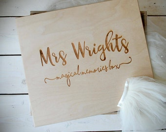 Wedding Memory Box - Unique Gift for Wife - Brides Memory Box - Keepsake Box - Wooden Wedding Box - Wedding Day - Wedding Keepsake