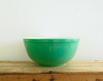 Primary Green Pyrex Bowl