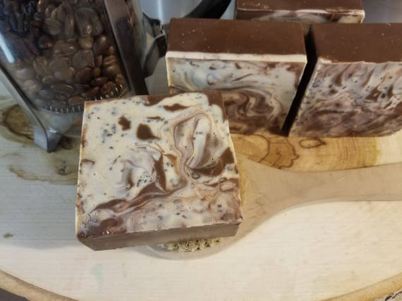 Organic Coconut & Olive Cold Process Soap Cinnanut Columbian Cafe-Coffee Lovers