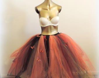 Adult tutu skirt tulle skirt monarch butterfly tutu fairy tutu fantasy costume festival wear halloween costume for women
