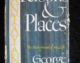 Persons & Places - The Background of My Life by George Santayana - 1944 hardcover book