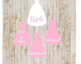 Bridal Party Gifts, Bridal party decal set, Bridal Party Gifts, Bridal Sets, Wedding Accessories, Wedding Decals, Wedding Sets, Wedding, A1