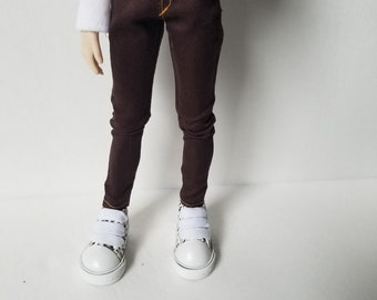 Chocolate brown skinny jeans for Taeyang