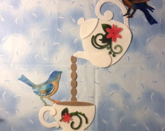Private order for Cathiejean38 Bluebird Tea Party