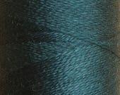 Petrol, Silk Machine Threads, 100% Mulberry Silk, Plain Dyed, Luxury Silk Threads, Spun Silk, Solid Colours, 300m, 325yds