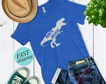 Auntiesaurus T Shirt - Cute Shirt For Aunt - Auntie Saurus Rex - Funny Aunt Shirt - Aunt To Be - Christmas Gift For Aunt - New Auntie shirt