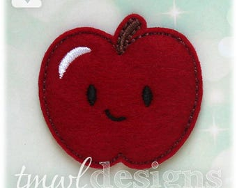 Apple Feltie Digital Design File - 1.75""