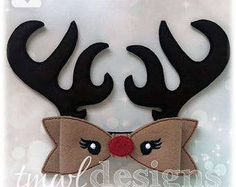 Felt Rudolph Bow Digital Design File