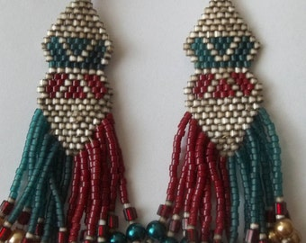 CLEARANCE  Long beaded earrings
