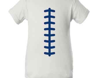 Football Team Colors Creeper - White/Royal