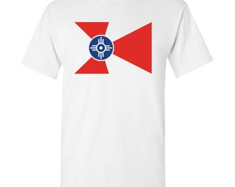 Wichita City Flag T Shirt - White