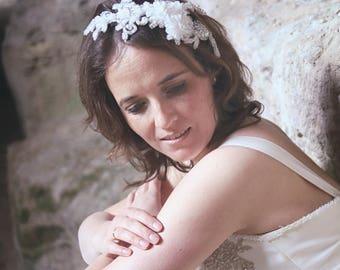 Bridal headpiece, bridal hairaccessory, wedding headpiece, wedding hairaccessory, lace headpiece, lace hairaccessory