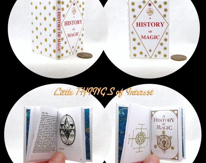 A HISTORY Of MAGIC Book in 1:3 Scale Readable Book AG Accessories Harry Potter 18 inch Ag Doll 1/3 Scale Hogwarts