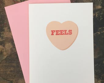 FEELS Letterpress Valentine's Day Card