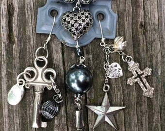 HINGED - Up-Cycled - Vintage Hinge Necklace - Funky Fangles