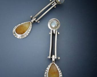 Golden Sapphire Earrings