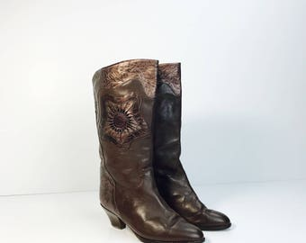 Cool vintage boots, leather, 70s
