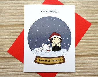 Let it Snow...Christmas is Coming Card