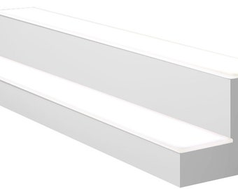 White LED Lighted Display Shelf 2 Tier